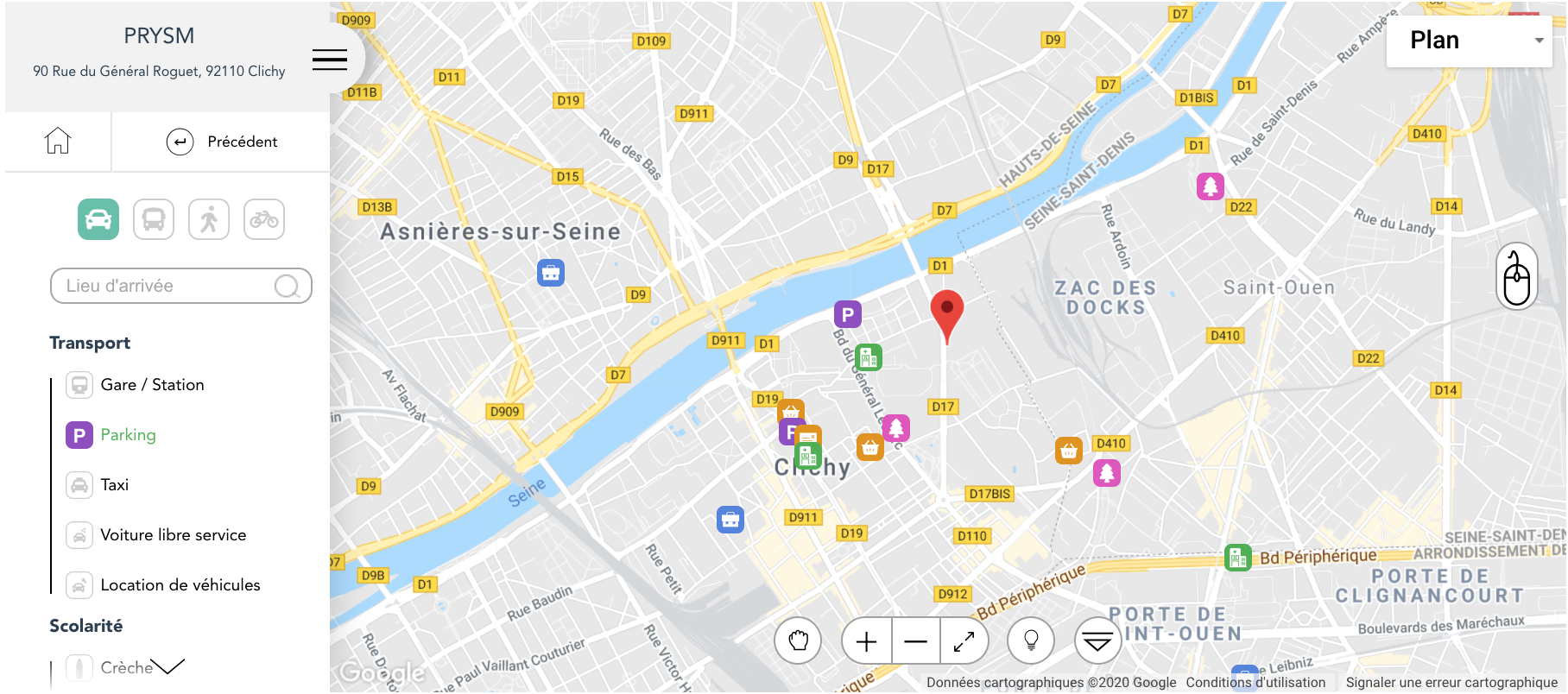 plan interactif clichy : projet immobilier neuf