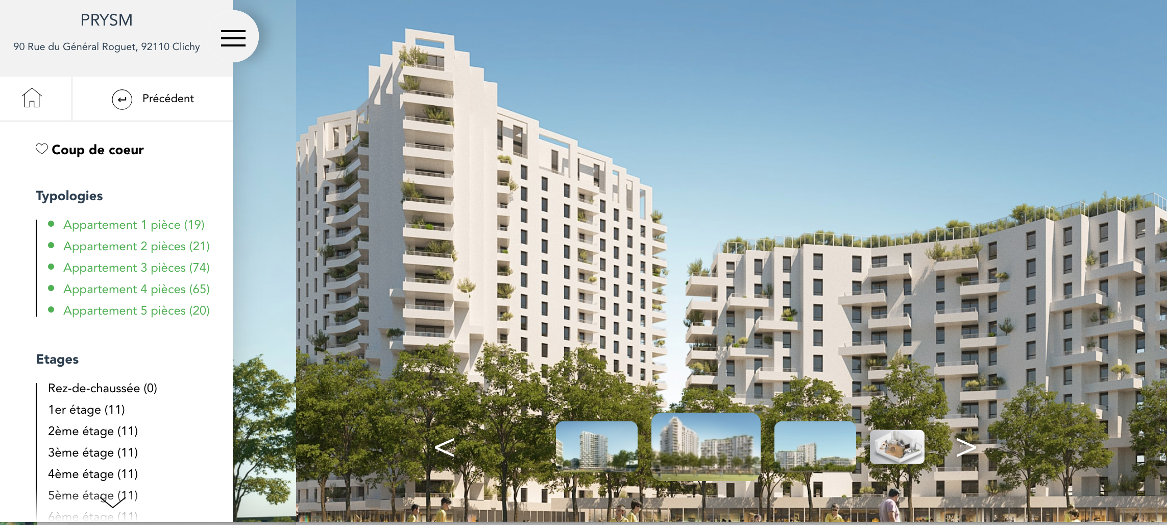 Vue extérieure Pitch Promotion Clichy : projet immobilier neuf